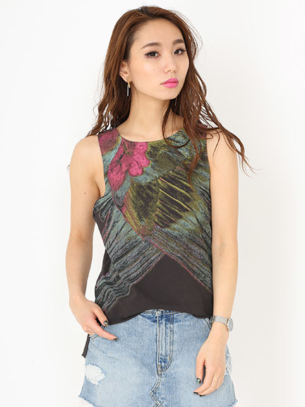 Feather print tank