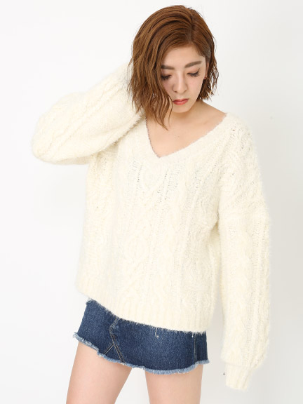 TWO YARN LOOSE KNIT