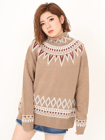Nordic Pattern Loose Knit